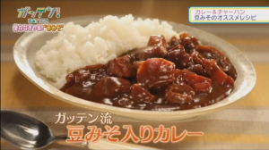 NHKガッテン 豆みそ入りカレー