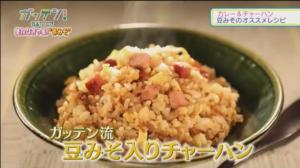 NHKガッテン 豆みそ入りチャーハン