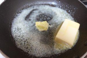 バター&にんにく炒める