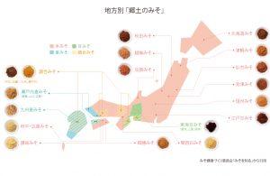 全国の味噌マップ