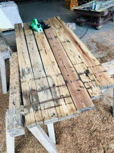 Woodsurfboard削り工程