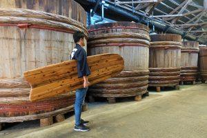 木桶サーフボード(アライア)